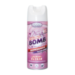 HF HYGIENE BOMB SPRAY HIGIENIZANTE 80% ALCOHOL TEJIDOS Y SUPERFICIES PERFUME CLEAN SENSE 400 ml
