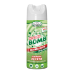 HF HYGIENE BOMB SPRAY HIGIENIZANTE 80% ALCOHOL TEJIDOS Y SUPERFICIES PERFUME IRIS & MUSK 400 ml